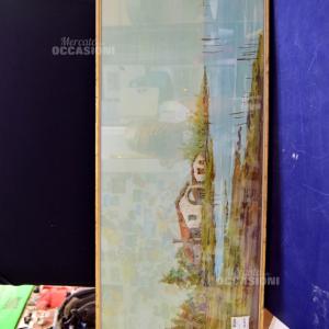 Quadro Paesaggio Di Laguna 88x36cm Antonio