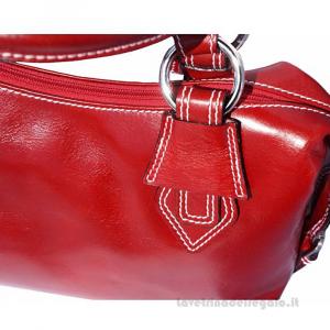 Borsa Rossa a Mano con tracolla in pelle - Ornella - Pelletteria Fiorentina