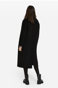 Cappotto sciallato con cintura