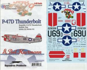 SUPERSCALE P-47D BUBBLETOP THUNDERBOLT 509TH FS, 405TH FG - MS320249