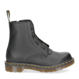 Dr. Martens Anfibi donna 1460 pascal front zip black nappa-2