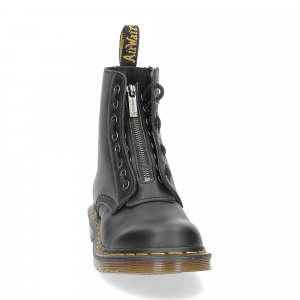 Dr. Martens Anfibi donna 1460 pascal front zip black nappa-3