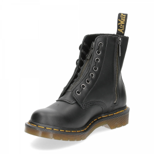 Dr. Martens Anfibi donna 1460 pascal front zip black nappa-4