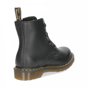 Dr. Martens Anfibi donna 1460 pascal front zip black nappa-5