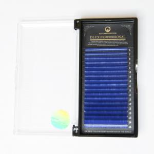 Extensiones de Pestañas color azul oscuro CC0,07mix