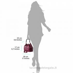 Borsa Blu Scuro a Mano con tracolla in pelle - Tamara - Pelletteria Fiorentina
