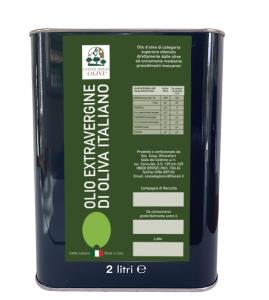 OLIO - EXTRAVERGINE - OLIVA - 100% ITALIANO - 2 LT - COSTA DEGLI OLIVI