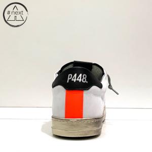 P448 - JOHN-M - bianco, nero e arancio fluo.