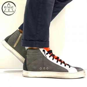 p448 - Skate - Alabama e arancio fluo