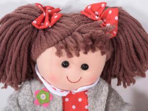 Set 8 bambole grandi 37 cm in stoffa imbottita
