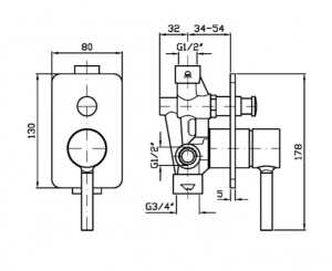 Zp6121- r99684 Zucchetti Pan Miscelatore vasca-doccia