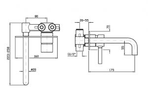 Miscelatore Lavabo a parete Zucchetti Pan zp6032-r99815