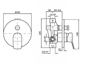 MISCELATORE VASCA DOCCIA BRIM ZBR127-R99684
