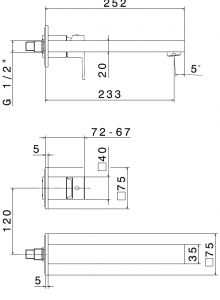 MISCELATORE LAVABO PARETE ERGO-Q 66428E-27853