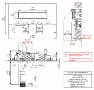 PLA05S Placca per cassetta a doppio flusso Geberit con idroscopino CEA DESIGN