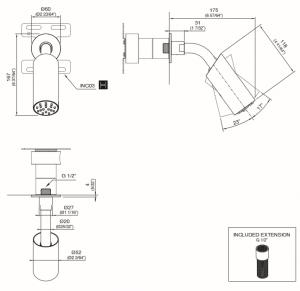NEU39S Soffione doccia orientabile con estremità in Delrin® CEA DESIGN