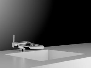 Miscelatore cucina con bocca fusa girevole e reclinabile art. 60147
