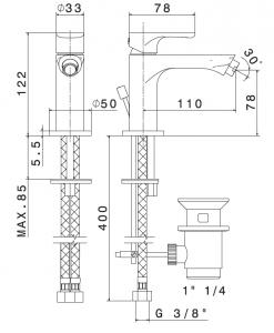69425 LINFA II NEWFORM MISCELATORE BIDET