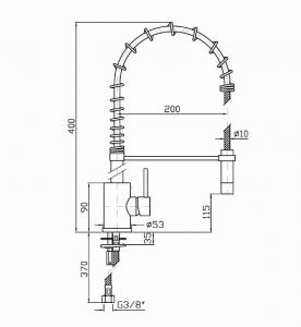 ZP4264 Zucchetti Miscelatore cucina con bocca orientabile