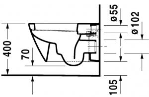 Starck 2 Vaso sospeso Cod. Art. 253409