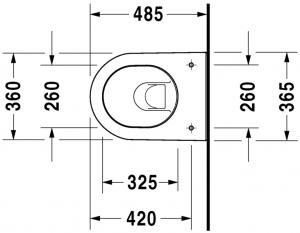 Darling New Vaso sospeso Compact Cod. Art. 254909