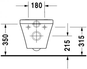 DuraStyle Vaso sospeso Duravit Rimless® Cod. Art. 254209