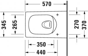 Viu Vaso sospeso Duravit Rimless® Cod. Art. 251109