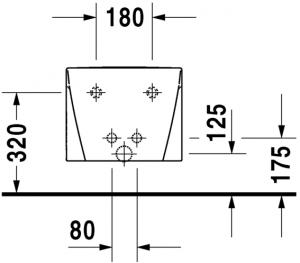 Starck 2 Bidet sospeso Cod. Art. 227115