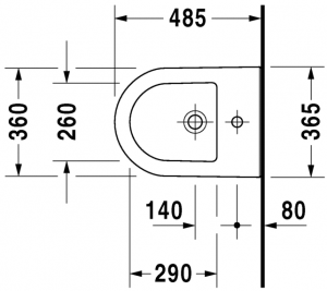 Darling New Bidet sospeso Compact Cod. Art. 225615