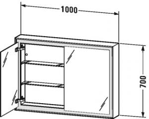 L-Cube Armadietto a specchio Cod. Art. LC7552