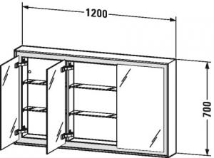 L-Cube Armadietto a specchio Cod. Art. LC7553