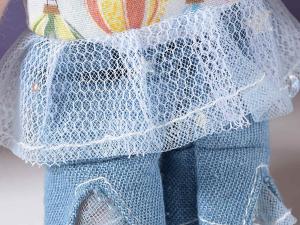 Bambolina mini in stoffa imbottita da appendere