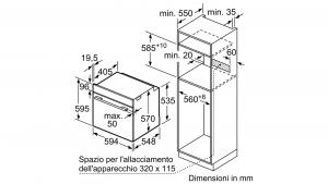 Bosch Serie 4 HBA374BR0J forno Forno elettrico 71 L Acciaio inossidabile A