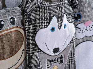Set tre borse acqua calda decori animaletti