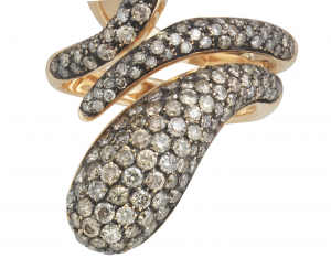 Elika Ring in rose gold and brown diamonds