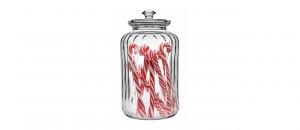 Biscottiera in vetro con coperchio lt 2,5 cm.25,5h