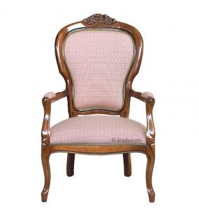 Fauteuil classique en bois style Louis Philippe