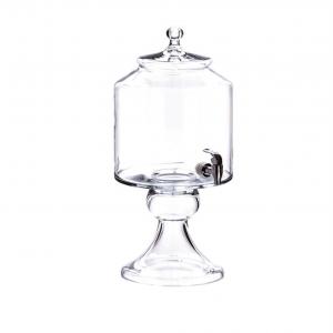 Distributore bibite in vetro con rubinetto cm.55h diam.24