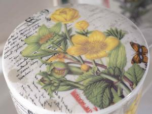 Set 4 tazze tisaniere in porcellana decori floreali