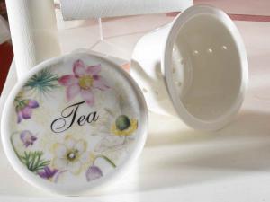 Set 2 tazze tisaniere in ceramica con infusore