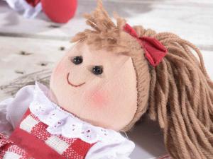 Set 4 bambole in stoffa imbottita in stile country