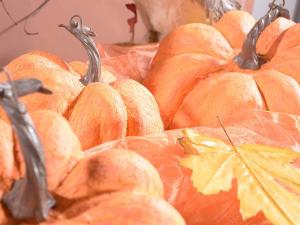 Set 3 zucche artificiali festa di Halloween