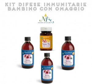 Kit Difese Immunitarie Bambino OMAGGIO inserisci il CODICE: KITNATURAUTOCURA riceverai in Omaggio Bio Docciashampoo limone e menta