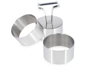 Coppapasta in acciaio con pressatore da 7,5cm