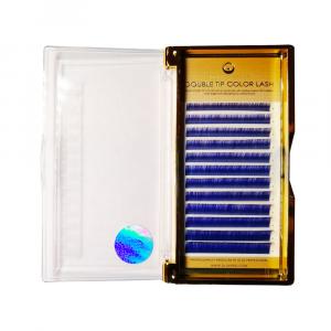 Extensiones de Pestañas Ombre Azul-Violeta CC0.07mix