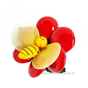 Anemone rosso con ape Fiore di Confetti William Di Carlo Sulmona - Italy