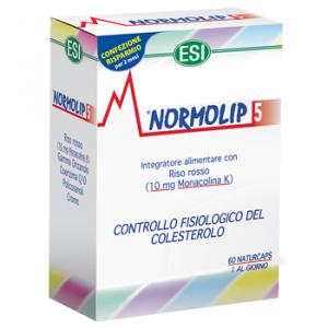 NORMOLIP 5 60 CAPSULE A BASE DI RISO ROSSO PER IL CONTROLLO DEL COLESTEROLO