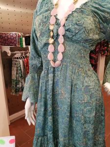 Abito corto fantasia verde | Abbigliamento stile vintage