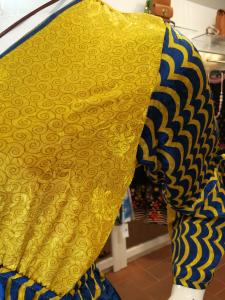 Abito lungo etnico con balze fino a taglia 50 | Abbigliamento curvy online