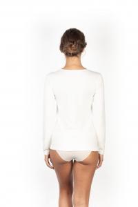 Maglia donna lana cotone manica lunga con pizzo MA.RE.